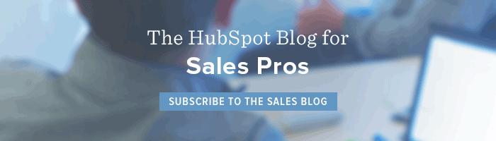 hubspot sales blog
