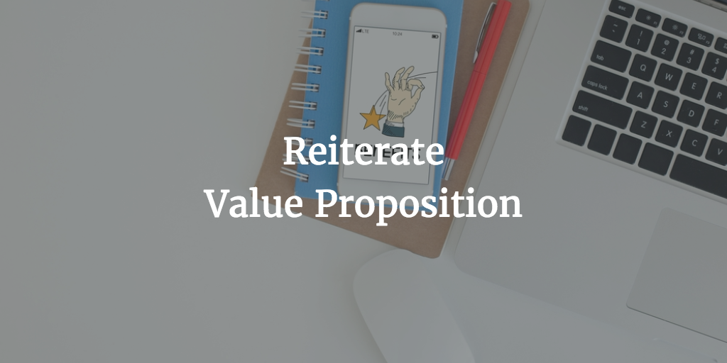 reiterate value proposition email call to action