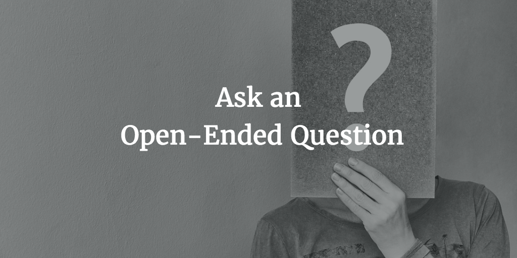 open-ended question email call to action