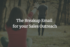 Breakup Email for sales outreach