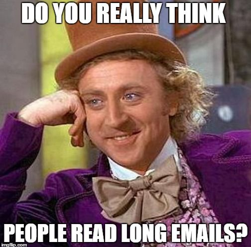 Long emails meme