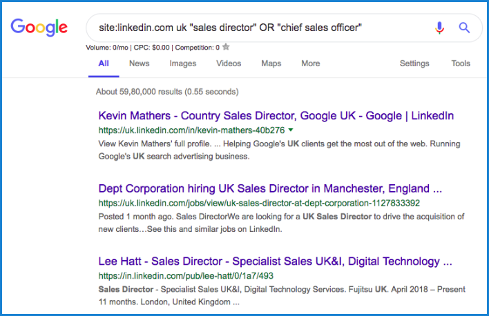 Boolean Google Search | LinkedIn for B2B Sales