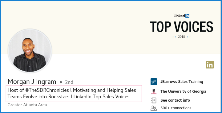 Thoughtful headline | LinkedIn for B2B Sales