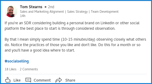 LinkedIn for B2B Sales| Starting conversations