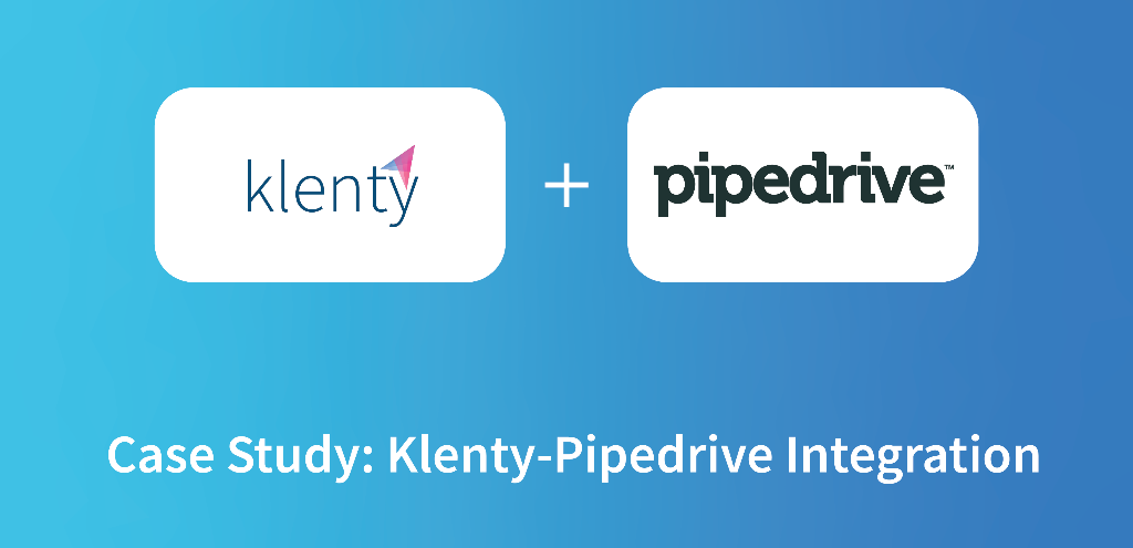 klenty pipedrive integration