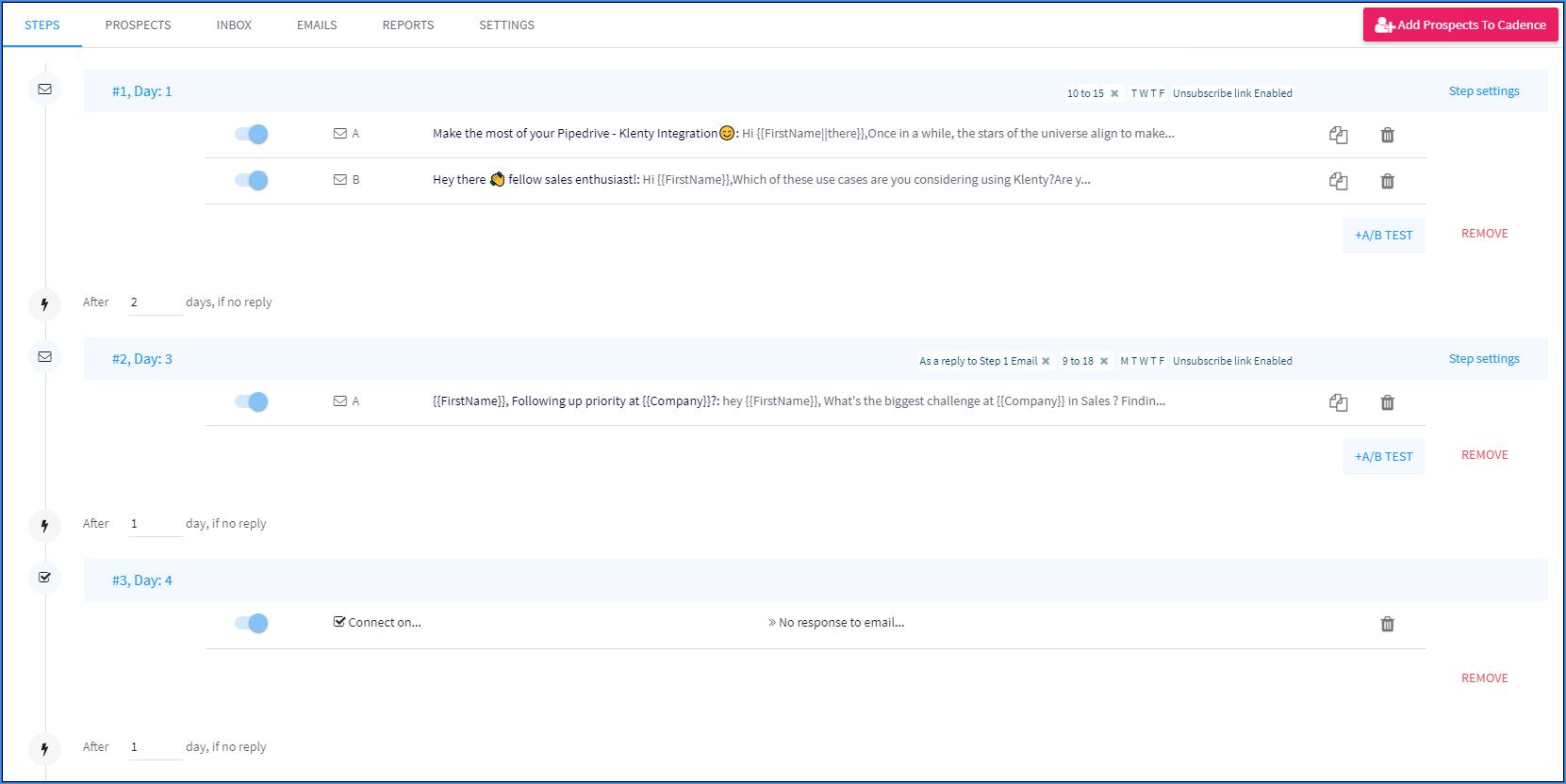 email cadences