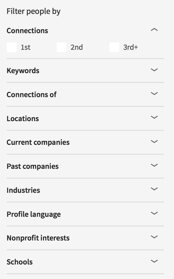 'People search' feature on LinkedIn