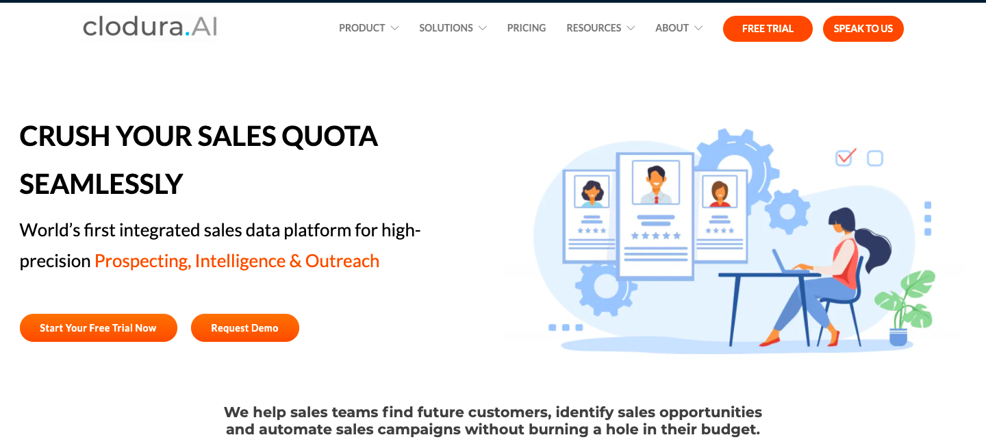 Demo image for Clodura - one of the sales engagement platforms mentioned in the article