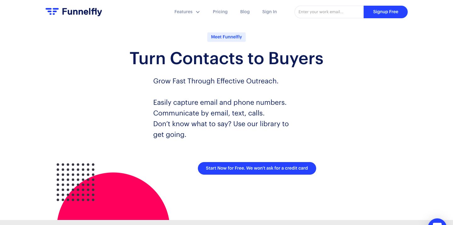 Demo image for Funnelfly - one of the sales engagement tools mentioned in the article