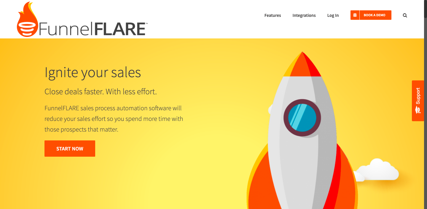 Demo image for FunnelFlare - one of the sales engagement platforms mentioned in the article