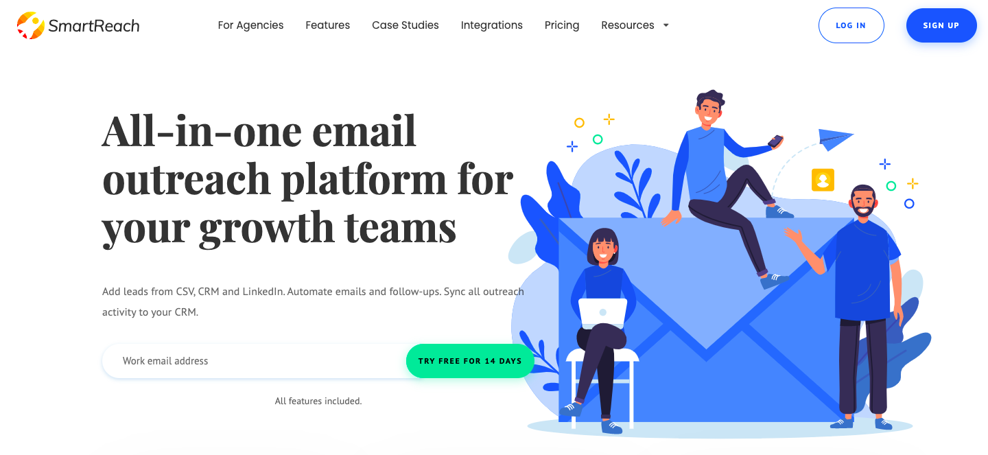 Demo image for smart reach - sales engagement platforms mentioned in the article