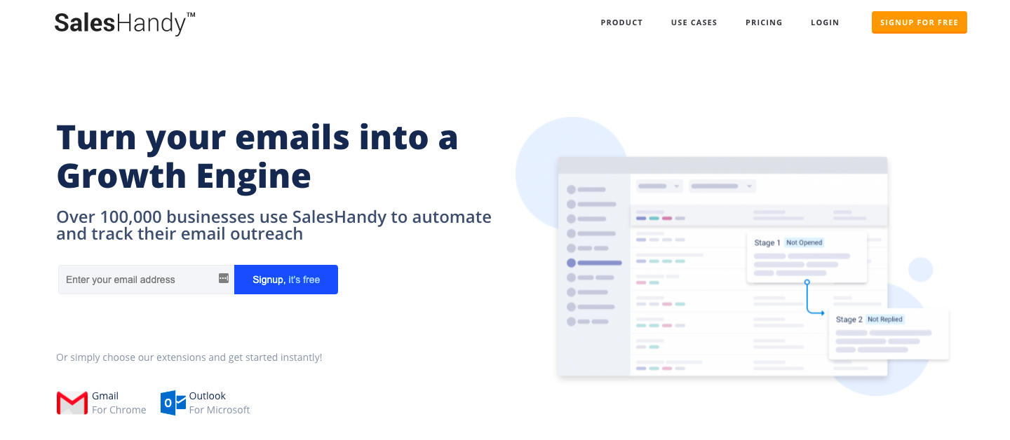 Demo image for Saleshandy - one of the sales engagement platforms mentioned in the article
