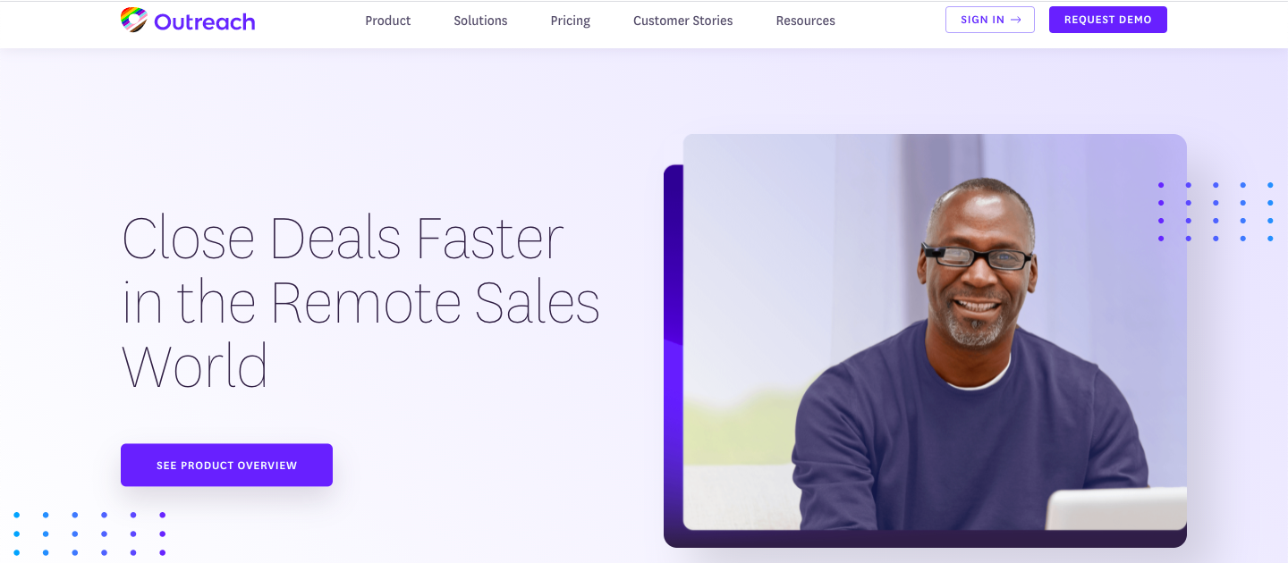 Demo image for Outreach - one of the sales engagement tools mentioned in the article
