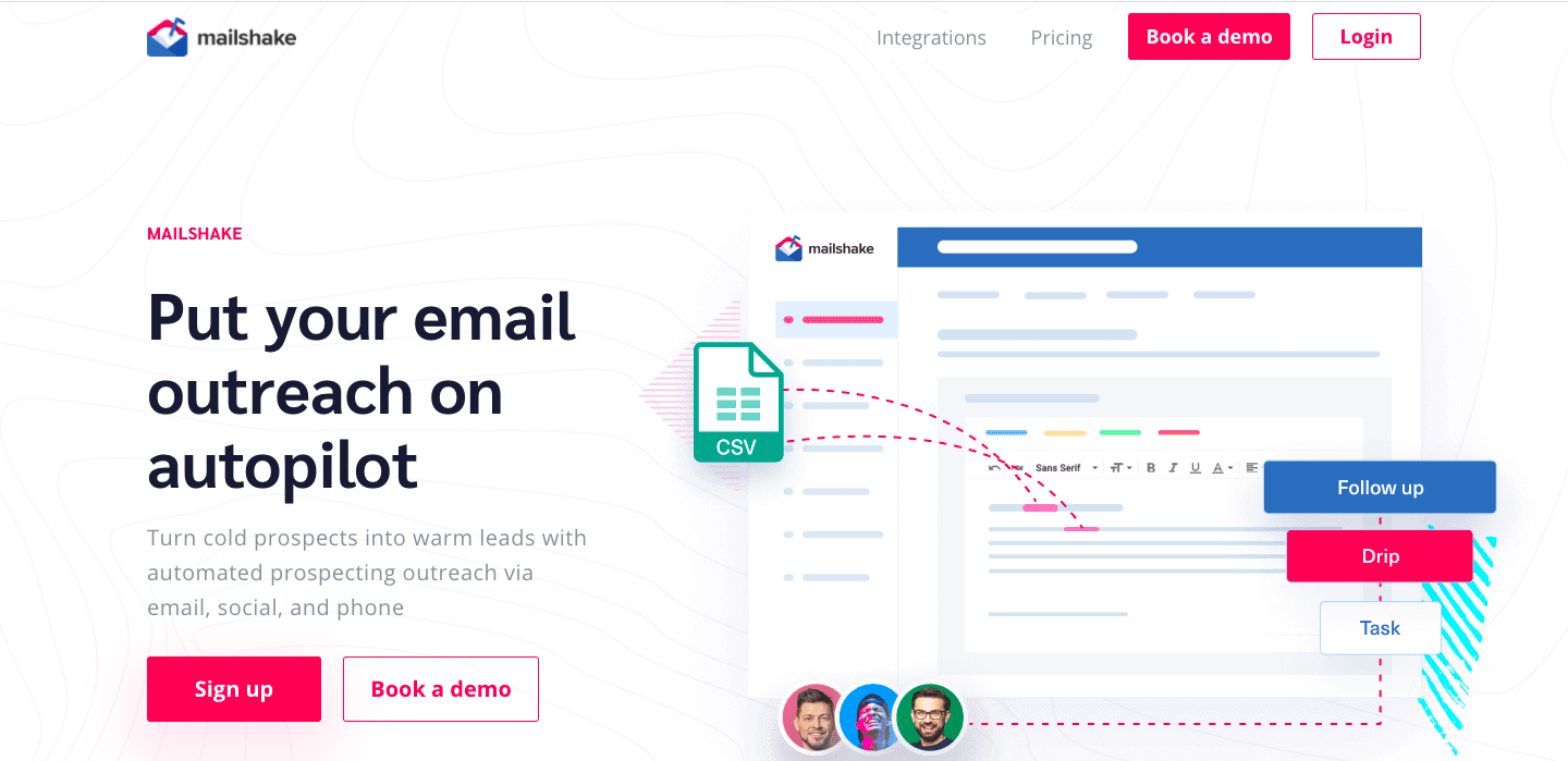 Demo image of Mailshake - One of the sales engagement platforms mentioned in the article