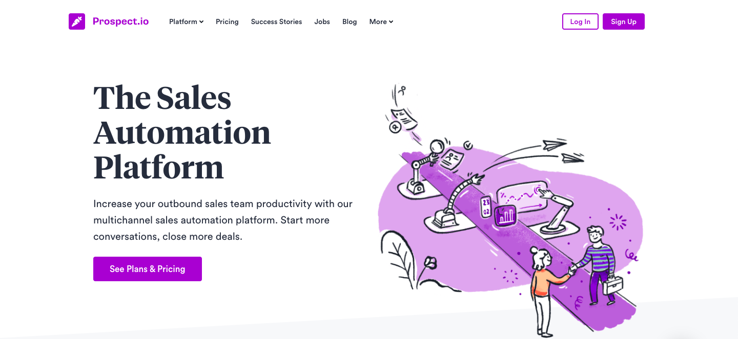 Demo image for Prospect.io - sales engagement tools mentioned in the article