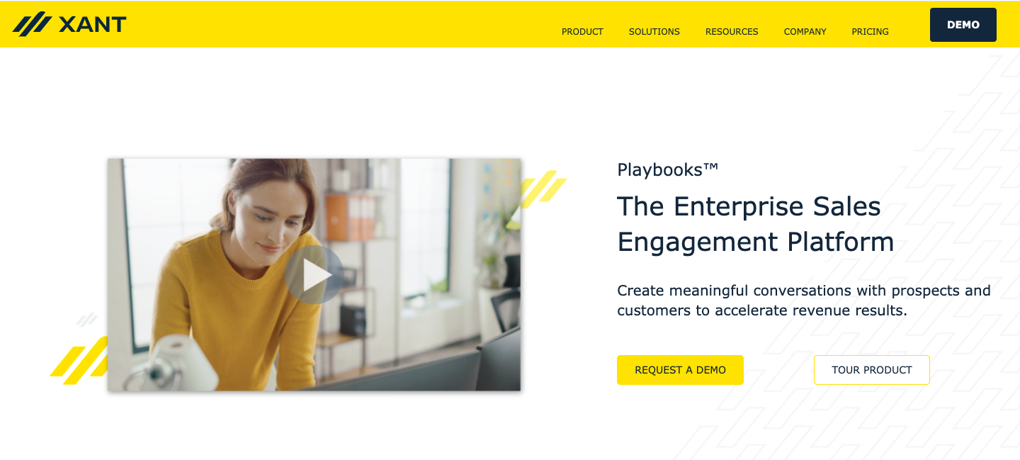 Demo image for Xant Playbooks - one of the sales engagement platforms mentioned in the article