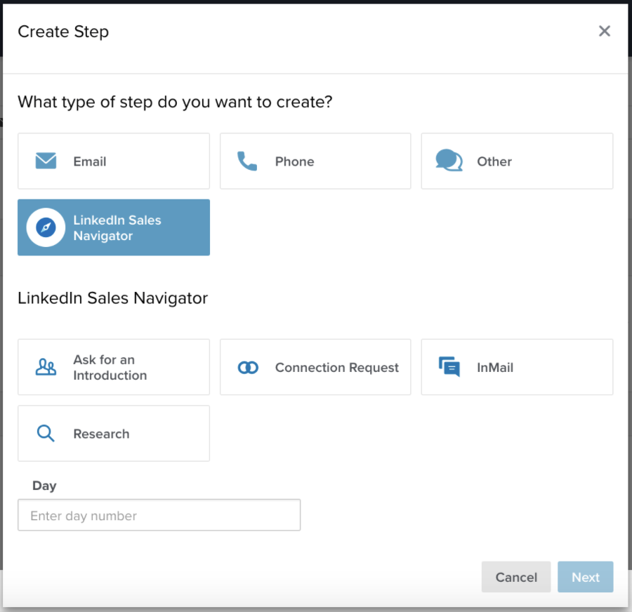 A screenshot of what the integration looks like inside the Salesloft software.